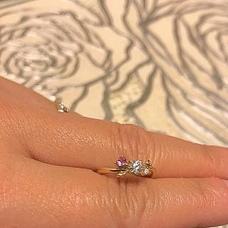 本日迄の出品 最終値下げADA K18YGダイヤモンドピンクサファイアリング (リング(指輪))