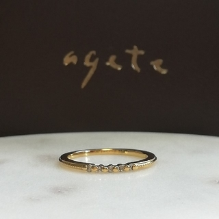 アガット(agete)のはやな様おまとめ品です🌼アガット K18 リングとk18ブレスレット(リング(指輪))