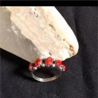 インディアンジュエリー 赤珊瑚リング(リング(指輪))