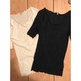 エディットフォールル(EDIT.FOR LULU)のBASERANGE リブシアーTシャツ2枚セット(Tシャツ(半袖/袖なし))