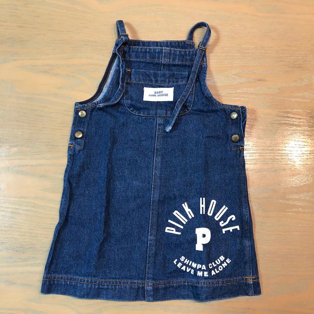 PINK HOUSE(ピンクハウス)のkids ジャンパースカート キッズ/ベビー/マタニティのキッズ服 女の子用(90cm~)(ワンピース)の商品写真