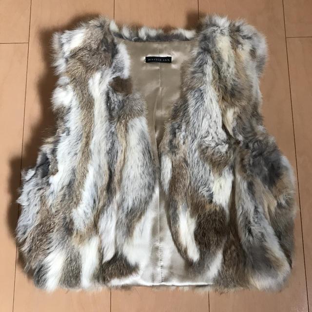 marble ink(マーブルインク)のラビットファーベスト レディースのジャケット/アウター(毛皮/ファーコート)の商品写真