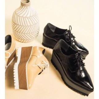 ムルーア(MURUA)のMURUA レースアップローファー ブラック(ローファー/革靴)