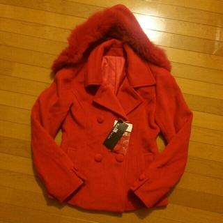 カールパークレーン(KarL Park Lane)の♡カールパークレーン♡新品タグ付き未使用赤コート(ピーコート)