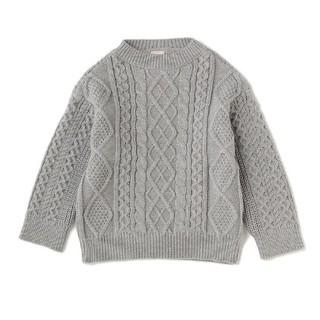 プティマイン(petit main)のプティマイン(petit main)編み地切り替えハイネックニットセーター(ニット/セーター)