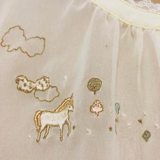 フランシュリッペ(franche lippee)のフランシュリッペユニコーン刺繍ブラウス(シャツ/ブラウス(長袖/七分))