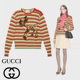 グッチ(Gucci)の美品♡  GUCCI  バンビ  ボーダー ニット トップス(ニット/セーター)