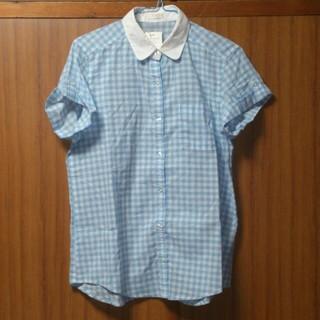 ジーユー(GU)のジーユー チェックシャツ 新品(シャツ/ブラウス(半袖/袖なし))