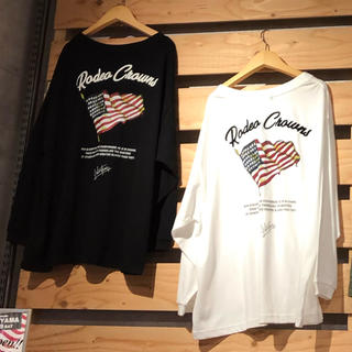 RODEO CROWNS WIDE BOWL - ミニタリー USフラッグ  ロングスリーブTシャツ