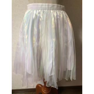 ルシェルブルー(LE CIEL BLEU)のLE CIEL BLEU 七色 チュール スカート(ひざ丈スカート)