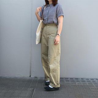 YAECA - leno&co  wide chino trousers
