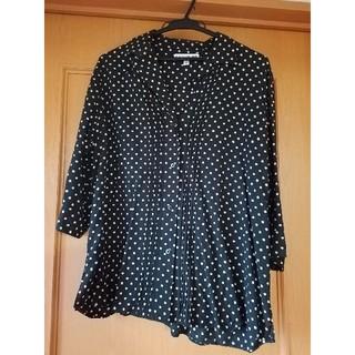 ユニクロ(UNIQLO)のユニクロ イネス 7部袖 ドットシャツ(シャツ/ブラウス(長袖/七分))