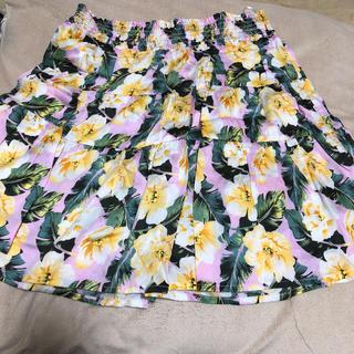 ジーユー(GU)のGU花柄スカート150(スカート)