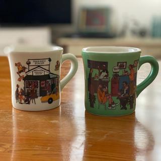 ニコアンド(niko and...)のフレッシュネスバーガー x niko and... マグカップ 2個(グラス/カップ)