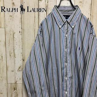 ラルフローレン(Ralph Lauren)のラルフローレン  マルチストライプ  刺繍ロゴ BDシャツ(シャツ)