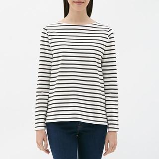 ジーユー(GU)の(GU)ボーダーボートネックT(長袖)(Tシャツ(長袖/七分))