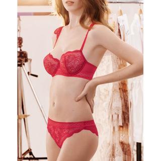 シモーヌペレール(Simone Perele)の80D+XL☆シモーヌペレール simone perele 見せブラ(ブラ&ショーツセット)
