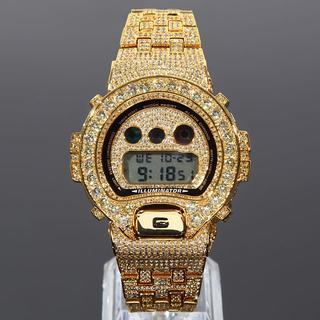 ジーショック(G-SHOCK)のG-SHOCK フルカスタム Gショック DW6900 大粒CZダイヤベゼル(腕時計(デジタル))