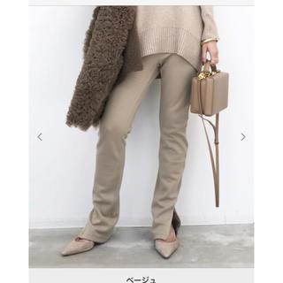 アパルトモンドゥーズィエムクラス(L'Appartement DEUXIEME CLASSE)のアパルトモン  Wool Zip Leggings ベージュ(レギンス/スパッツ)