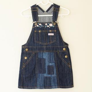ブリーズ(BREEZE)の刺繍パッチワーク ジャンパースカート 95サイズ   breeze(ワンピース)