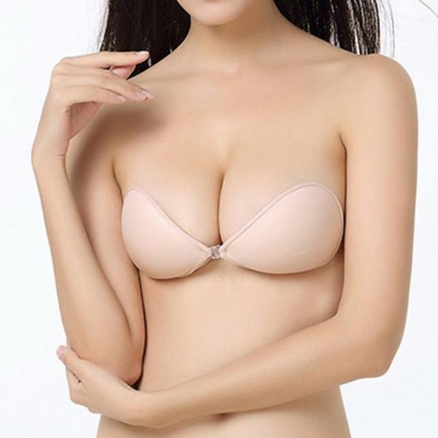 ヌードブラ  XL_ベージュ レディースの下着/アンダーウェア(ヌーブラ)の商品写真