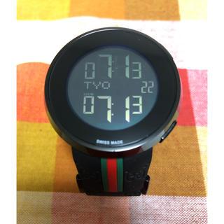 グッチ(Gucci)の【美品】I GUCCI/アイ グッチ デジタル時計(腕時計(デジタル))