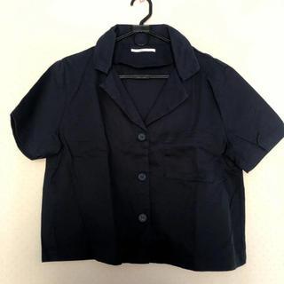 RETRO GIRL - ネイビー シャツ