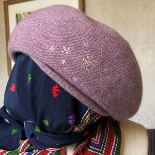 アンテプリマ(ANTEPRIMA)のアンテプリマ★帽子★ビジューラメ混ニット(ハンチング/ベレー帽)