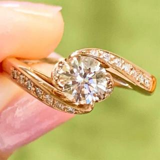 美品❗️大粒 上質 k18 ダイヤリング  k18ダイヤモンドリング(リング(指輪))