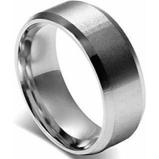 Flongo 8MM メンズ指輪 「日本サイズ25号」(リング(指輪))
