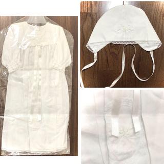 ファミリア(familiar)の[新品未使用] ファミリア♢ベビードレス♢帽子付き(セレモニードレス/スーツ)