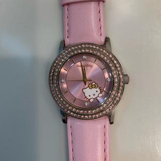 ハローキティ(ハローキティ)のキティちゃん ダイヤ 腕時計 ピンク ハローキティ(腕時計)