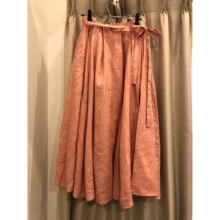 ツルバイマリコオイカワ(TSURU by Mariko Oikawa)のツル バイ マリコオイカワ スカート ピンク 17ss(ロングスカート)