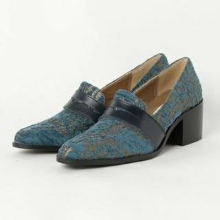 アメリヴィンテージ(Ameri VINTAGE)の【新品】AMERI アメリ / DAMASK JACQUARD LOAFER(ローファー/革靴)