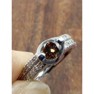 合わせやすい!アースカラーのダイヤです!K18WGダイヤリング 15.5号(リング(指輪))