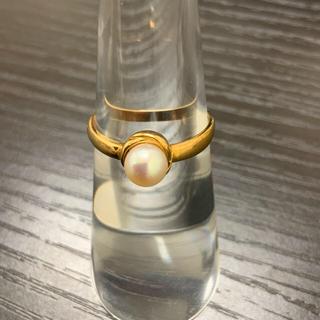 k18リング♢パール♢ シンプル☆指輪☆USED(リング(指輪))