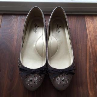 ダイアナ(DIANA)のラインストーンぺたんこ靴(ハイヒール/パンプス)