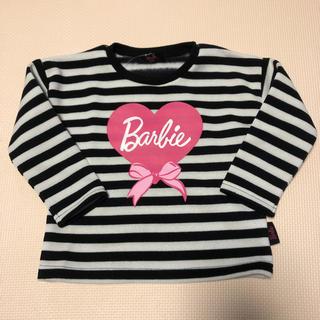 バービー(Barbie)のバービー 裏起毛 トレーナー ボーダー (Tシャツ/カットソー)
