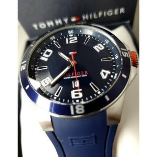トミーヒルフィガー(TOMMY HILFIGER)の美品 tommy hilfiger 青いラバーバンド(腕時計(アナログ))