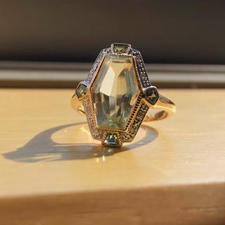 天然クォーツ ダイヤモンド トルマリン リング(リング(指輪))