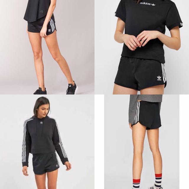adidas(アディダス)のアディダス オリジナルス 3ストライプ ショートパンツ 黒 S 新品未使用 レディースのパンツ(ショートパンツ)の商品写真