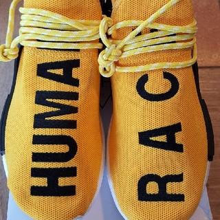 アディダス(adidas)の26.5cm 新品アディダス ヒューマンレース ブースト イエロー(スニーカー)