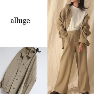 アルージェ(Arouge)の新品 alluge アルージュ ステッチポイントビッグジャケット ベージュ(その他)
