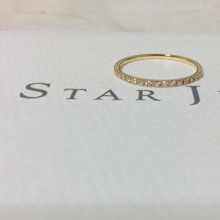 スタージュエリー(STAR JEWELRY)の【最終価格】スタージュエリー ハーフエタニティリング K18YG(リング(指輪))