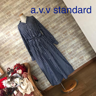 a.v.v - a.v.v standard ストライプシャツワンピース【美品】