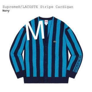 シュプリーム(Supreme)のSupreme®/LACOSTE Stripe Cardigan Navy (カーディガン)