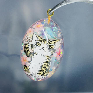 桜と猫 ネックレス(ネックレス)