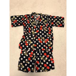 シマムラ(しまむら)の【美品】女の子 フルーツ柄甚平  ♡ 130(甚平/浴衣)