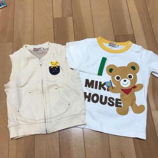 ミキハウス(mikihouse)のミキハウス ベスト 長袖シャツ 80(シャツ/カットソー)