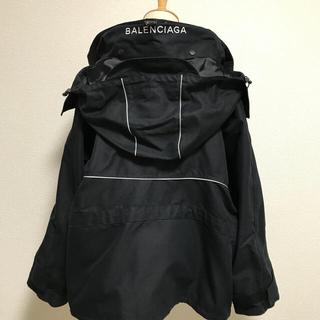 バレンシアガ(Balenciaga)のBALENCIAGA Logo-print hoodedshell jacket(ブルゾン)